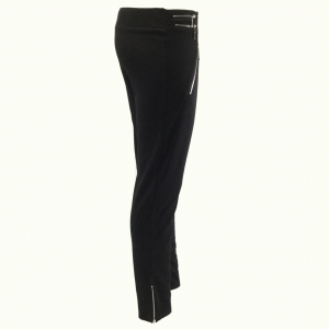 Black Zipped Leggings