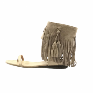 Taupe Tassel Sandals