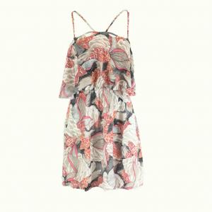 Cassia Pink Printed Mini Dress