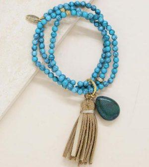 Turquoise Multi Strand Bracelet