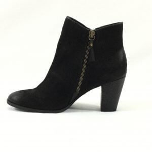 Leather High Heel Booties