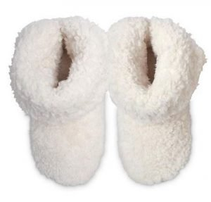 Ivory Fleece Bootie Slippers
